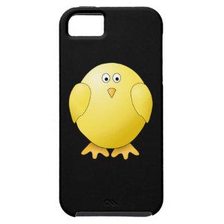 Polluelo amarillo lindo Pequeño pájaro en negro iPhone 5 Case-Mate Protector