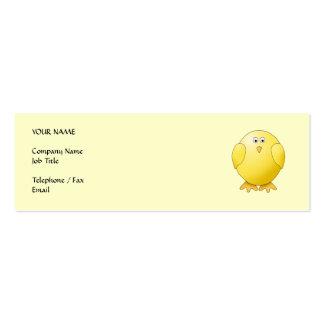 Polluelo amarillo lindo. Pequeño pájaro Tarjetas De Visita