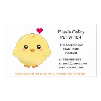Polluelo amarillo lindo tarjeta personal