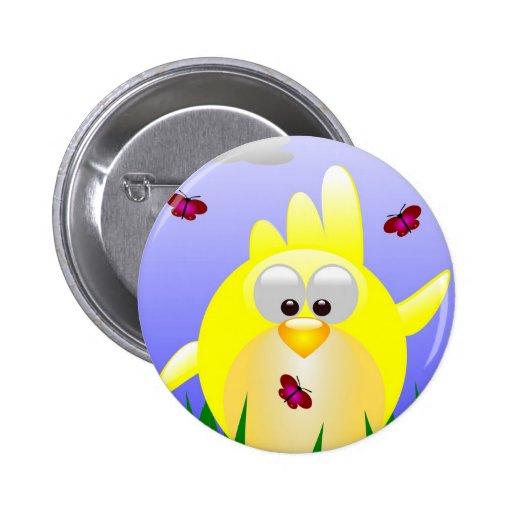 Polluelo amistoso de Pascua que agita Pin Redondo 5 Cm