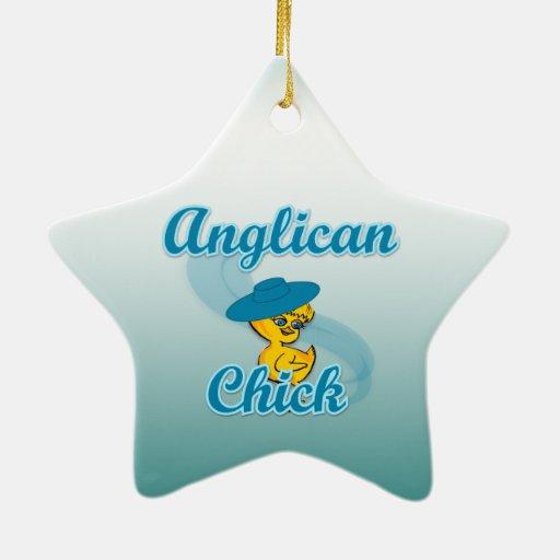 Polluelo anglicano #3 ornamento de navidad