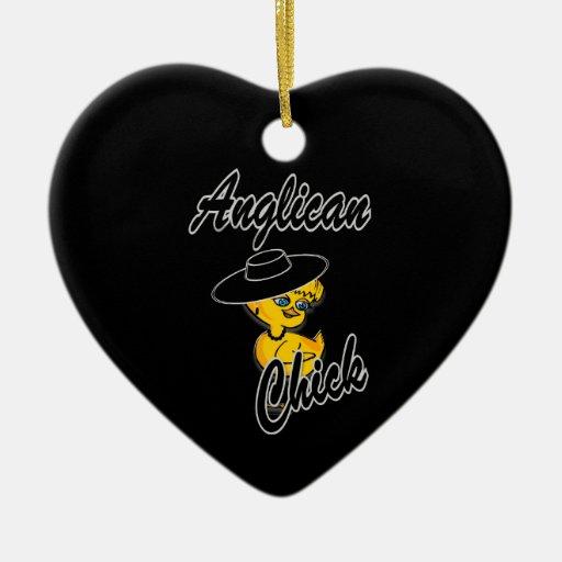 Polluelo anglicano #4 ornamento para arbol de navidad