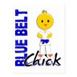 Polluelo azul de la correa postal