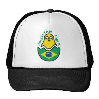 Polluelo brasileño gorro de camionero