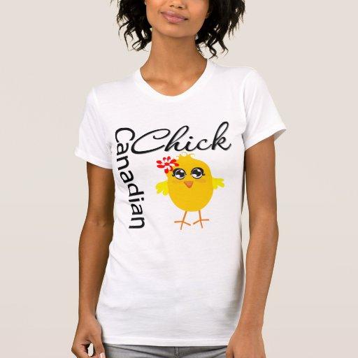Polluelo canadiense camisetas