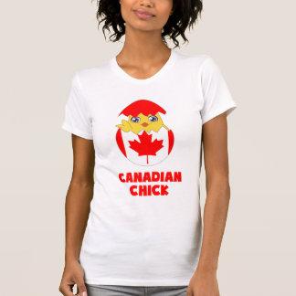 Polluelo canadiense, chica de Canadá Playera