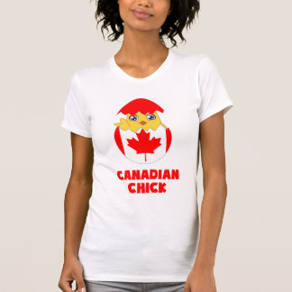 Polluelo canadiense, chica de Canadá Camisetas