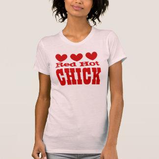 POLLUELO candente con los corazones ROJOS Camisetas