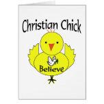 Polluelo cristiano felicitación