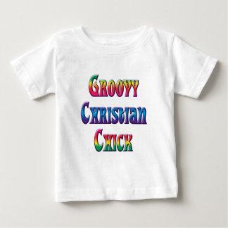 polluelo cristiano maravilloso playera para bebé