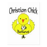 Polluelo cristiano postales
