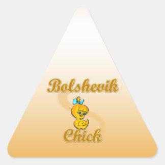 Polluelo de Bolchevique Calcomania Triangulo Personalizadas