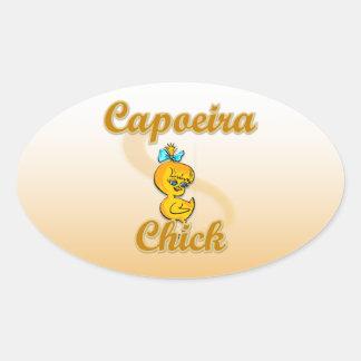 Polluelo de Capoeira Pegatina Ovalada