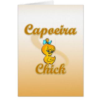 Polluelo de Capoeira Tarjeta De Felicitación