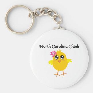 Polluelo de Carolina del Norte Llavero Redondo Tipo Pin