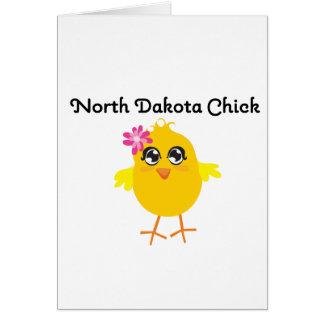 Polluelo de Dakota del Norte Felicitacion