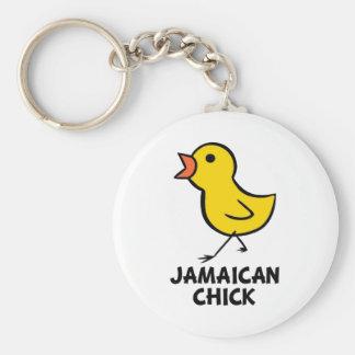 Polluelo de Jamaician Llavero Redondo Tipo Pin