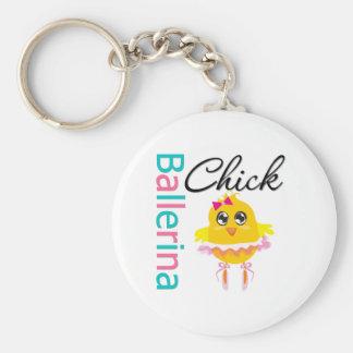 Polluelo de la bailarina llaveros personalizados