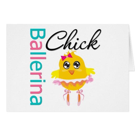 Polluelo de la bailarina tarjeta de felicitación