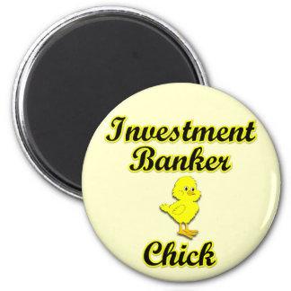 Polluelo de la banca de inversiones imán redondo 5 cm