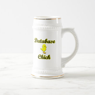 Polluelo de la base de datos taza de café