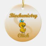 Polluelo de la bioquímica ornamento de navidad