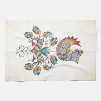 polluelo de la Boho-moda en la flor Toallas De Mano