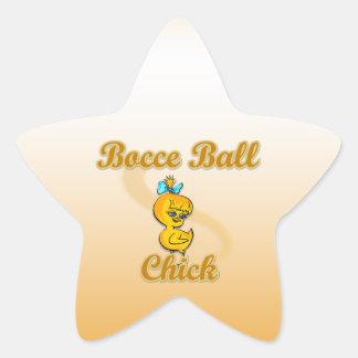 Polluelo de la bola de Bocce Pegatina En Forma De Estrella