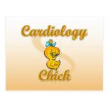 Polluelo de la cardiología tarjeta postal