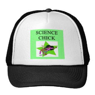 polluelo de la ciencia gorros