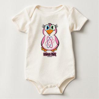 Polluelo de la ciencia trajes de bebé