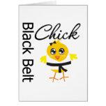 Polluelo de la correa negra tarjeton