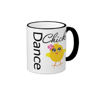 Polluelo de la danza taza de dos colores