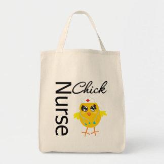 Polluelo de la enfermera bolsa tela para la compra