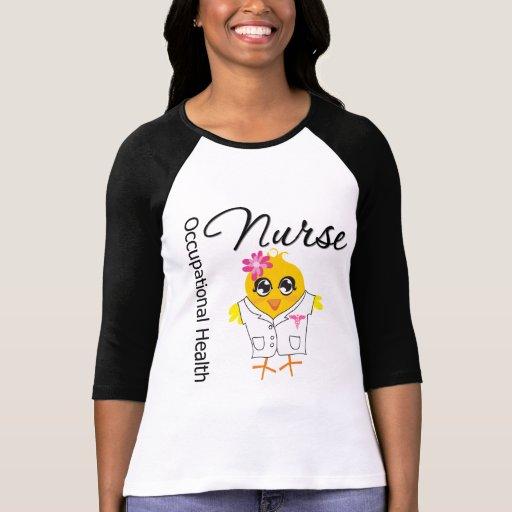 Polluelo de la enfermera de medicina del trabajo playeras