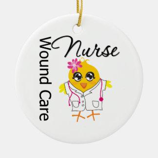 Polluelo de la enfermera del cuidado de la herida ornamento de navidad