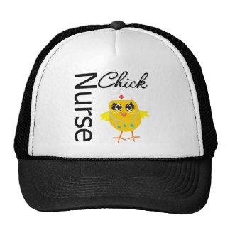 Polluelo de la enfermera gorras de camionero
