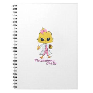 Polluelo de la flebotomía spiral notebook