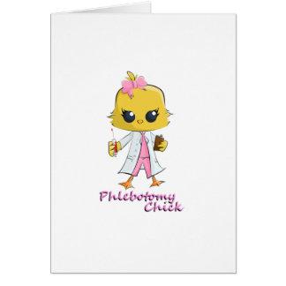Polluelo de la flebotomía tarjeta de felicitación
