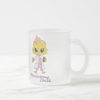 Polluelo de la flebotomía taza de café del vidrio