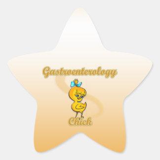 Polluelo de la gastroenterología calcomanías forma de estrella personalizadas