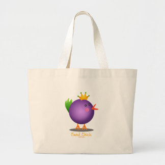 Polluelo de la gota del carnaval (púrpura) bolsa tela grande