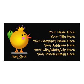 Polluelo de la gota - oro tarjetas con fotos personalizadas