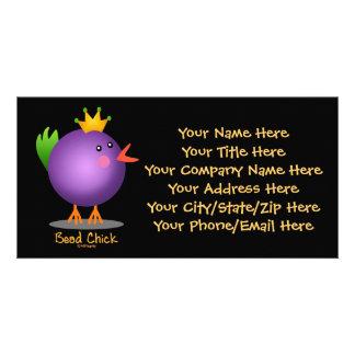 Polluelo de la gota - púrpura tarjetas personales con fotos