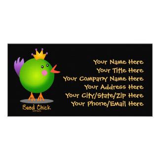 Polluelo de la gota - verde tarjetas personales