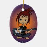 Polluelo de la guitarra adorno de navidad