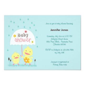 Polluelo de la mamá y del bebé invitaciones personalizada