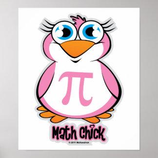 Polluelo de la matemáticas póster