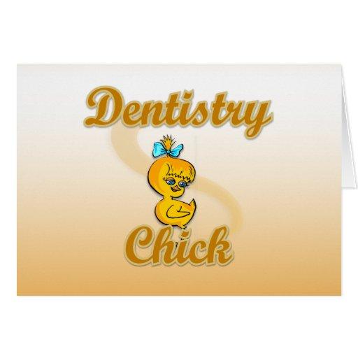 Polluelo de la odontología tarjeta de felicitación