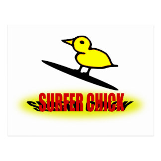 Polluelo de la persona que practica surf tarjetas postales